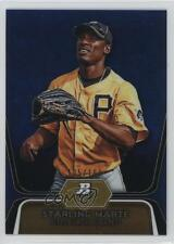 2012 Bowman Platinum Prospects Blue Refractor BPP24 Starling Marte Baseball Card