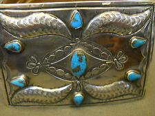 """Turquoise sterling silver buckle 3 1/2"""" x 2 5/8"""""""
