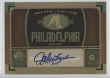 2012 SP Signature Collection Autographed #PHI4 John Kruk Auto Baseball Card