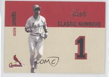 2003 Flair Greats Classic Numbers #5CN Ozzie Smith St. Louis Cardinals Card