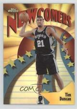 1998-99 Topps Chrome Season's Best Refractor #SB26 Newcomers Tim Duncan Card