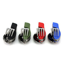 Outdoor Compact Folding Stainless Pocket Spoon Fork 3 in 1 Utensils Tools Set