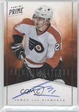 2011 Panini Prime Signatures 69 James van Riemsdyk Philadelphia Flyers Auto Card