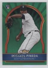 2011 Topps Finest Green Refractor 86 Michael Pineda Seattle Mariners Rookie Card
