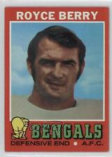 1971 Topps #182 Royce Berry Cincinnati Bengals Football Card