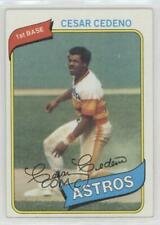 1980 Topps #370 Cesar Cedeno Houston Astros Baseball Card