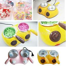 Electric Double Oven Chocolate Cheese Candy Melting Pot Boiler Fondue Heater Set