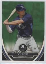 2013 Bowman Platinum Prospects Chrome Green Refractor #BPCP6 Wil Myers Card