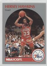 1990-91 NBA Hoops #229 Hersey Hawkins Philadelphia 76ers Basketball Card