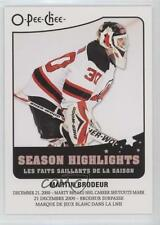 2010-11 O-Pee-Chee Season Highlights #SH-6 Martin Brodeur New Jersey Devils Card