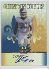 2012 Leaf Valiant Blue #QC1 Quinton Coples New York Jets Auto Football Card