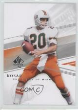 2014 SP Authentic #150 Bernie Kosar Miami Hurricanes Football Card