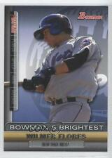 2011 Bowman Bowman's Brightest #BBR17 Wilmer Flores New York Mets Baseball Card