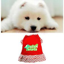 Pet Puppy Dog Doggie Strip Dress Christmas Clothes Apparel Costume Red Skirt