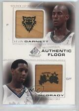 2000 SP Game Floor Edition Authentic Combos C12 Kevin Garnett Tracy McGrady Card