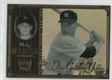 2000 Upper Deck Yankee Legends The Golden Years #GY7 Mickey Mantle Baseball Card