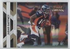 2010 Panini Threads Gold Century Proof #43 Jabar Gaffney Denver Broncos Card