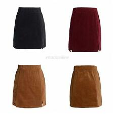 Fashion Women Corduroy High Waist Casual Sexy Mini Skirt Party Short Mini Dress