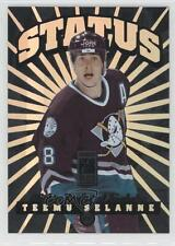 1996-97 Donruss Elite Status #10 Teemu Selanne Anaheim Ducks (Mighty of Anaheim)