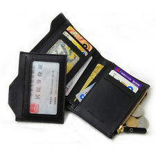 Men's Leather ID credit Card holder Clutch Bifold Coin Purse Wallet Pockets NEW