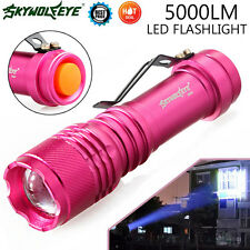 New 5000LM CREE Q5 AA/14500 LED 3 Modes ZOOMABLE Focus Flashlight Torch Light UK