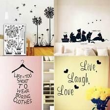 Art Vinyl Quote DIY Wall Stickers Removable Decal Mural Home Kids Floral Decor
