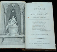 Antique Book-FABLES OF MR. JOHN GAY-WOODENGRAVING-Bewick-Gay-1797
