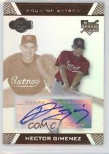 2007 Topps Co-Signers Hyper Silver/Bronze 106 Hector Gimenez Houston Astros Auto
