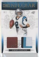 2010 Playoff National Treasures NFL Gear Combos Prime #8 Jimmy Clausen Card