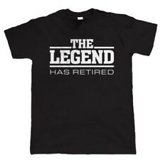 The Legend Has Retired Mens Funny Retirement T Shirt - Gift for Dad Grandad