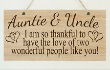 Personalised Auntie Uncle Thank You Shabby Plaque Chic Gift Shabby Christmas
