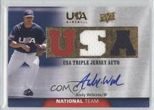 2009 Upper Deck USA Baseball #TJANT-AW Andy Wilkins Team (National Team) Auto