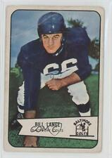 1954 Bowman #62 Bill Lange Baltimore Colts RC Rookie Football Card