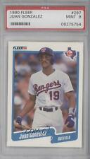 1990 Fleer #297 Juan Gonzalez PSA 9 Texas Rangers RC Rookie Baseball Card
