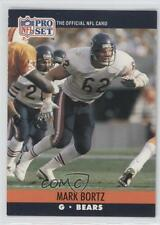 1990 Pro Set #447 Mark Bortz Chicago Bears RC Rookie Football Card