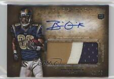 2012 Topps Inception Rookie Autographed Jumbo Patch Gold AJP-BQ Brian Quick Auto