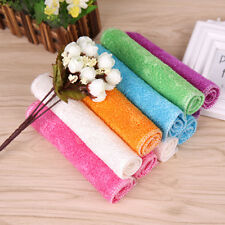 10pcs Bamboo Fiber Dish Wash Cloth /Towel (White) for Kitchen 23cm*18cm
