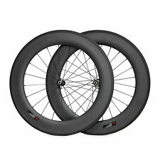 Carbon Wheelset for 700C 88mm Clincher Straight Pull Road Bike Wheels