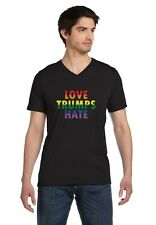 Love Trumps Hate Gay & Lesbian Pride V-Neck T-Shirt