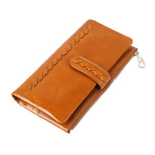 Soft Genuine Leather with Zip wallet Card Holders Purse Lady pouch Handbag