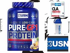 USN Pure GF1 Low Carb Protein Powder 2.2kg And Free Cla Greens 45 Caps+ shaker