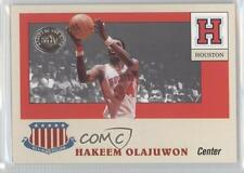 2001 Fleer Greats of the Game All-American Collection #1AA Hakeem Olajuwon Card