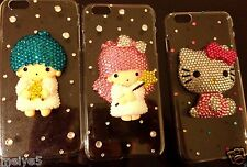 hello kitty iPhone 6 PLUS clear case Little twin stars bling crystals diamonds