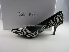 CALVIN KLEIN  DOLLY  PONY HAIR BLACK AND WHITE  PUMP SHOE SIZES  5.5  6;  NEW