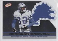 2001 Pacific Prism Atomic #49 Germane Crowell Detroit Lions Football Card