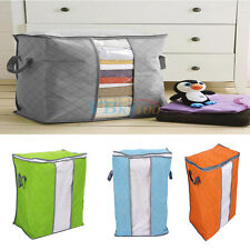 Non-woven Fabric Bamboo Charcoal Storage Box Organizer Bag Clothing Quilt Closet