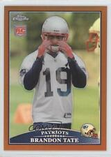 2009 Topps Chrome Copper Refractor #TC123 Brandon Tate New England Patriots Card