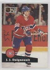 1991-92 Pro Set French #124 JJ Daigneault Montreal Canadiens J.J. Hockey Card