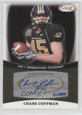 2009 SAGE Autographs Gold #A9 Chase Coffman Missouri Tigers Auto Football Card