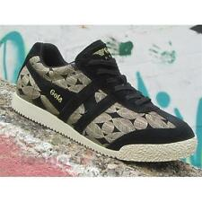 Shoes  Gola Harrier Leaf CLA196BY204 Woman Sneakers Suede Black Gold Leaf